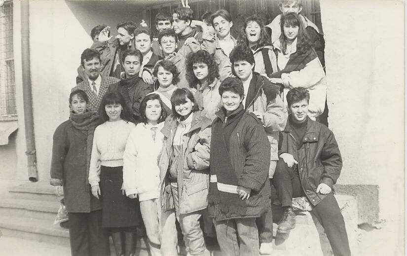 "Lucian la Liceul \""Al. I. Cuza\"", 1992"