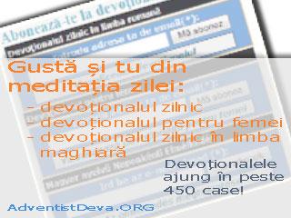Devoționalele de pe AdventistDeva.ORG ajung în peste 450 de case