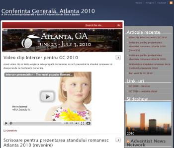 Website dedicat participarii diasporei romanesti la Conferinta Generala Atlanta 2010