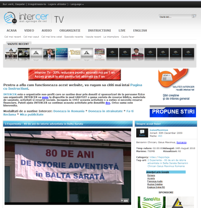 Promotie Intercer Tv 2010 – 33% reducere pentru noii abonati, acces la stiri pentru toti abonatii