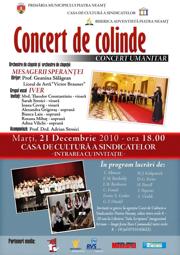 Concert de colinde la Piatra Neamţ