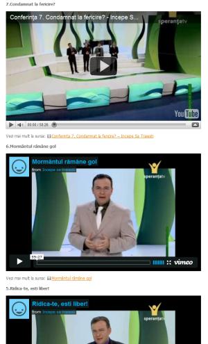 """Ultimele trei conferinte din seria """"Incepe sa traiesti"""" – 4-6 Februarie 2011"""