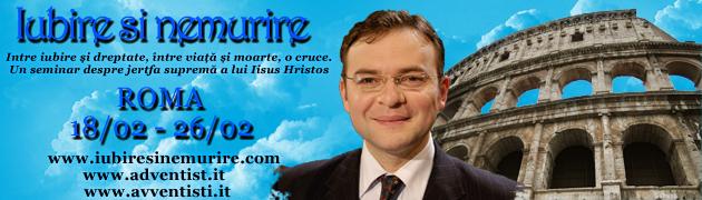 """""""Iubire si nemurire"""" – Conferinte biblice cu Cornel Darvasan la Roma, 18-26 Februarie 2011"""