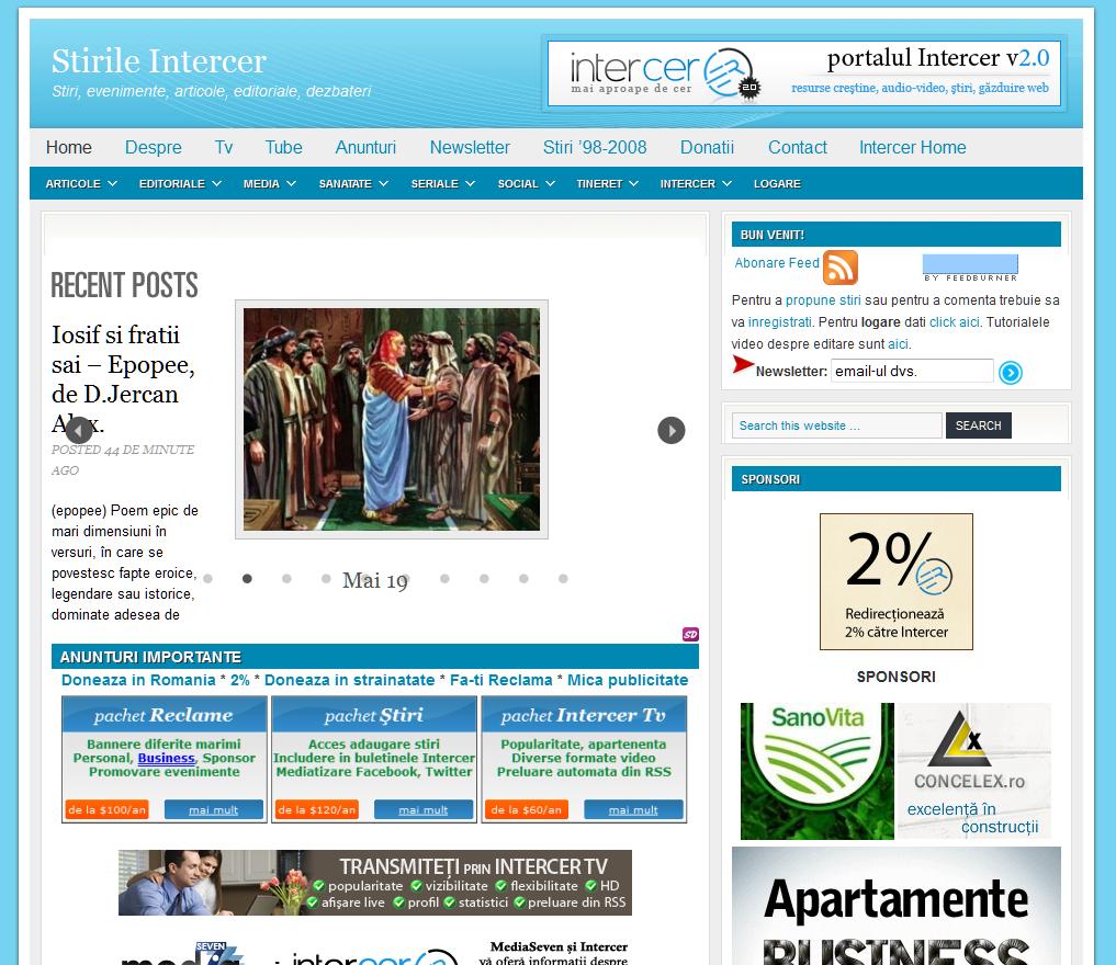 Noutati Intercer – Mai 2011