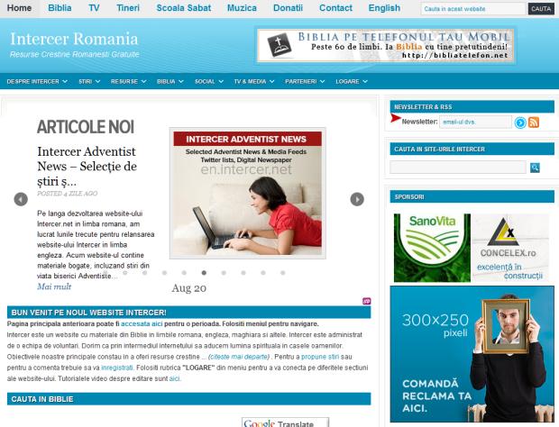 Intercer.net are un nou design si o noua functionalitate – August 2011