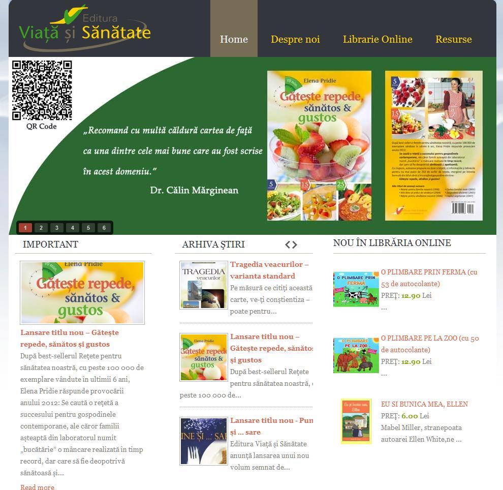 """Studiile Scolii de Sabat pe noul website al Editurii """"Viata si Sanatate"""""""