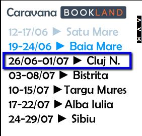 BebeDream: Caravana Bookland la Cluj, 26 Iunie – 1 Iulie 2012
