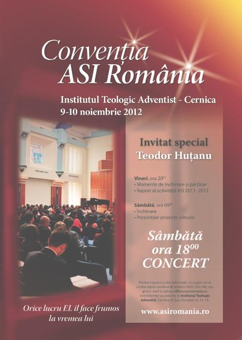Conventia Nationala ASI Romania – 9-10 Noiembrie 2012, Cernica