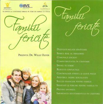 Familii fericite – Conferinte biblice cu dr.Willie Oliver, Brasov, Noiembrie 2012