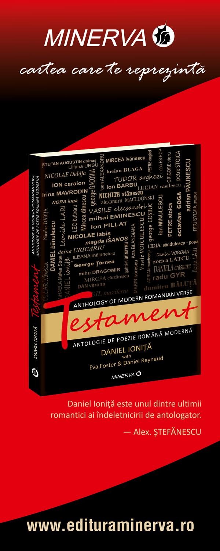 """""""Testament"""", volum de versuri bilingv (Romana-Engleza), de Daniel Ionita"""