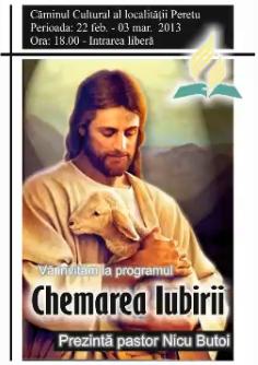 Evanghelizare cu pastorul Nicu Butoi la Peretu, 22 Februarie – 3 Martie 2013