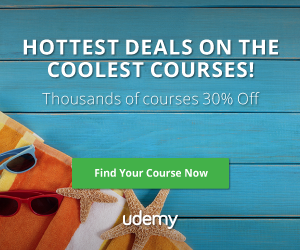 Udemy – Hottest Deals on the Coolest Courses – July 2016